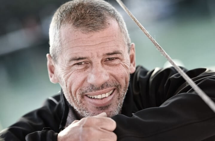 THE VENDEE GLOBE IS A CHALLENGE AND SEBASTIEN DESTREMAU WILL EMBODY YOUR MERCI